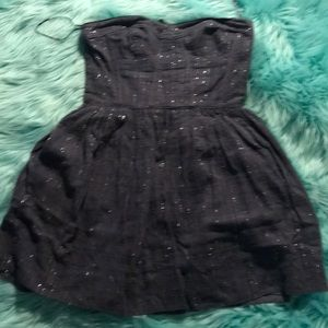 Rebecca Taylor size 4 gray and silver dress